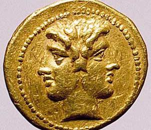 moneta_mezzo_statere_della_serie_del_giuramento_testa_di_giano_bifronte_e_scena_di_giuramento