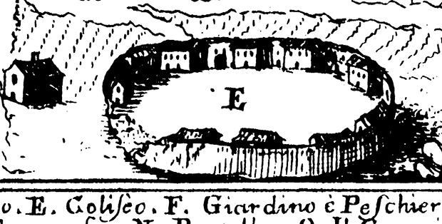 Veduta di Venafro del Pacichelli (1695)