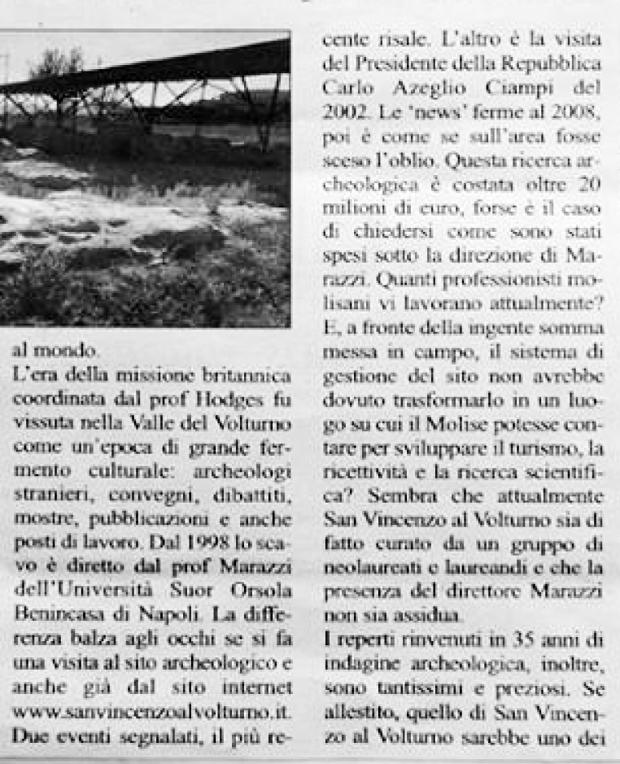 San Vincenzo al Volturno, occasione persa copia 2